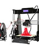 baratos Aço Inoxidável-Anet a8 alta precisão de alta qualidade fdm desktop diy 3d impressora (instruções de montagem no cartão sd)