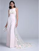 abordables Vestidos de Noche-Funda / Columna / Mono Joya Corte Raso / Tul Evento Formal Vestido con Diseño / Estampado por TS Couture®