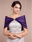 Χαμηλού Κόστους Γαμήλιες Εσάρπες-Αμάνικο Σατέν Γάμου Αναδιπλώνει Γάμου Με Τεχνητό διαμάντι / Φιόγκος Μπολερό