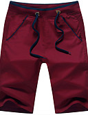cheap Men's Pants & Shorts-Men's Cotton Slim Straight / Loose / Shorts Pants - Solid Colored / Weekend