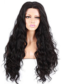 cheap Women's Nightwear-Human Hair Glueless Full Lace Full Lace Wig Natural Wave Wig 130% Hair Density Natural Hairline African American Wig 100% Hand Tied Women's Short Medium Length Long Human Hair Lace Wig