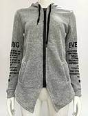 cheap Women's Hoodies & Sweatshirts-Women's Going out Cotton Long Hoodie - Letter / Fall