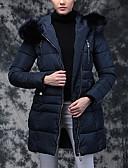 baratos Acessórios de Moda-Mulheres Sólido Diário Casual Longo Acolchoado, Com Capuz Manga Longa Inverno