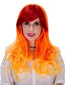 זול הינומות חתונה-פאות סינתטיות / פאות לתחפושות בגדי ריקוד נשים Ombre שיער סינטטי Ombre פאה ארוך ללא מכסה