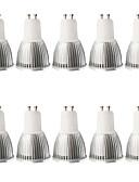 preiswerte Überbekleidung-10 Stück 5W 400-450lm GU10 LED Spot Lampen MR16 1 LED-Perlen COB Abblendbar Dekorativ Warmes Weiß Kühles Weiß 100-240V 110-130V