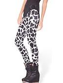 billige Bukser og skjørt til damer-Dame Daglig Store størrelser Grunnleggende Tights - Dyr, Trykt mønster Medium Midje