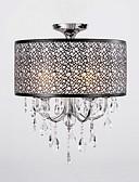 billige Damekjoler-QINGMING® 5-Light Takplafond Opplys Krom Metall Krystall 110-120V / 220-240V Pære ikke Inkludert / E12 / E14