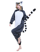 preiswerte Kigurumi Pyjamas-Erwachsene Kigurumi-Pyjamas Lemur Pyjamas-Einteiler Polar-Fleece Tintenblau Cosplay Für Herren und Damen Tiernachtwäsche Karikatur Halloween Fest / Feiertage