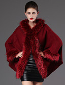 abordables Abrigos y Gabardinas de Mujer-Mujer Vintage Abrigo Un Color Detalles en Piel