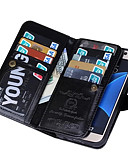 preiswerte Handyhüllen-SHI CHENG DA Hülle Für Samsung Galaxy Samsung Galaxy S7 Edge Geldbeutel Ganzkörper-Gehäuse Volltonfarbe PU-Leder für S7 edge / S7 / S6 edge