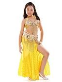 Χαμηλού Κόστους Βραδινά Φορέματα-Χορός της κοιλιάς Σύνολα Επίδοση Σιφόν Πούλιες / Με Άνοιγμα Μπροστά Αμάνικο Χαμηλή Μέση Κορυφή / Φούστα / Ζώνη