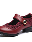 preiswerte Damen Kleider-Damen Tanz-Turnschuh / Schuhe für modern Dance Leder / Stoff Sneaker Flacher Absatz Keine Maßfertigung möglich Tanzschuhe Schwarz /
