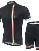 cheap Sport Watches-Men's Short Sleeves Cycling Jersey with Shorts Bike Clothing Suits, Quick Dry, Breathable