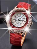 povoljno Kvarcni satovi-Žene Luxury Watches Kristalni sat Diamond Watch Kvarc Koža Crna / Bijela / Crvena Casual sat Analog dame Moda Elegantno - Braon Crvena Zelen