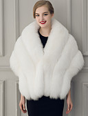 cheap Women's Scarves-Sleeveless Faux Fur Wedding / Party Evening Women's Wrap With Feathers / Fur Capelets