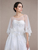 cheap Wedding Dresses-Sleeveless Lace / Tulle Wedding / Party Evening Women's Wrap With Lace Capes