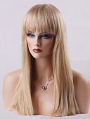 voordelige Herenhorloges-Human Hair Capless Pruiken Echt haar Recht Klassiek Hoge kwaliteit Pruik Dagelijks
