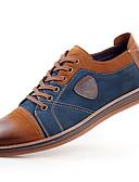 baratos Camisas Masculinas-Homens Sapatos de couro Couro / Pele Primavera / Outono Formais Oxfords Antiderrapante Cinzento / Marron / Cadarço / Sapatos Confortáveis