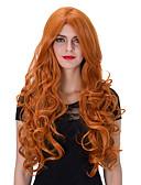 preiswerte Damenhüte-Synthetische Perücken Locken Synthetische Haare Rot Perücke Damen Sehr lang Kappenlos Orange