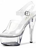 ieftine Bolerouri de Nuntă-Pentru femei Pantofi PVC Vară / Toamnă Pantofi Usori / Pantofi Club Tocuri Toc Stilat / Platformă / Heel translucid Cataramă Alb