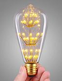 billige Militærur-3 W LED-glødetrådspærer 200 lm E26 / E27 ST64 47 LED Perler COB Dæmpbar Dekorativ Starry Varm hvid 220-240 V, 1pc / RoHs