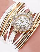cheap Quartz Watches-Women's Bracelet Watch Leather Band Bangle / Fashion Black / White / Silver / Stainless Steel