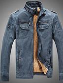 お買い得  メンズジャケット&コート-男性用 ジャケット スタンド 純色 / 長袖