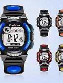 hesapli Erkek Saatleri-Erkek Moda Saat Dijital Kapitoneli PU Deri Siyah / Analog Günlük - Sarı Kırmzı Mavi / Paslanmaz Çelik
