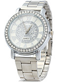 cheap Quartz Watches-Men's Wrist Watch Imitation Diamond / / Stainless Steel Band Vintage / Casual / Fashion Silver