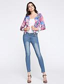 abordables Pantalones para Mujer-Mujer Algodón Ajustado / Vaqueros Pantalones - Un Color