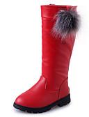 baratos Vestidos para Meninas-Para Meninas Sapatos Couro Ecológico Inverno Botas da Moda Botas Caminhada para Preto / Vermelho / Vinho