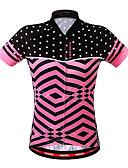 abordables Camisas y Camisetas para Mujer-WOSAWE Mujer Manga Corta Maillot de Ciclismo - Rosa Bicicleta Camiseta / Maillot, Transpirable, Reductor del Sudor Poliéster