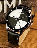 baratos Relógios da Moda-YAZOLE Mulheres Relógio de Pulso Relógio Casual Couro Banda Amuleto / Casual / Fashion Preta / Branco / Vermelho / Um ano / SSUO 377