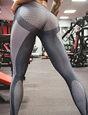 baratos Calças e Saias-Mulheres Esportivo Legging - Poá Cintura Média