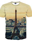 cheap Men's Tees & Tank Tops-Men's Active T-shirt - Geometric Print Round Neck / Short Sleeve