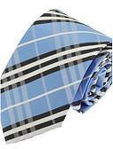 abordables Corbatas y Pajaritas para Hombre-Hombre Poliéster Corbata - Fiesta Trabajo Básico A Rayas