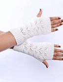 cheap Gloves-Women's Cute Party Work Wrist Length Half Finger Gloves - Solid Colored