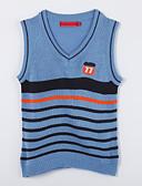 voordelige Meisjeskleding-Dagelijks Kleurenblok Katoen Herfst Trui & Vest Blauw