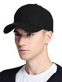 billige Hatter til herrer-Unisex Aktiv Baseballcaps Ensfarget