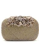 preiswerte Damen Leggings-Damen Taschen Spezielle Werkstoff Abendtasche Crystal / Strass / Anhänger / Schmuck Solide Schwarz / Silber / Golden