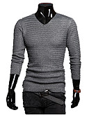 cheap Men's Belt-Men's Daily Solid Colored Long Sleeve Regular Pullover, Stand Fall / Winter Dark Gray / Light gray L / XL / XXL