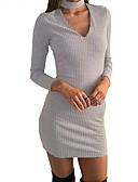 povoljno Ženske haljine-Žene Bodycon Korice Haljina Jednobojni V izrez