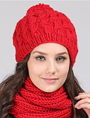 cheap Women's Hats-Women's Work / Active Beanie / Slouchy - Solid Colored / Fall / Winter