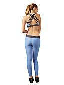 billige Kjoler-Dame Åben Ryg / Strappy Yogatøj - Blå, Lys pink Sport Mode Spandex Træningsdragt / Tøjsæt Pilates, Træning & Fitness, Løb Uden ærmer