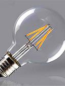 baratos Roupas de Meninas-1pç 300-350lm E26 / E27 Lâmpadas de Filamento de LED G80 4 Contas LED COB Decorativa Branco Quente Amarelo 220-240V