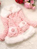 halpa Tyttöjen takit-Tyttöjen Color Block Höyhen- ja puuvillatopattu Päivittäin Puuvilla Talvi Pitkähihainen Fuksia Pinkki
