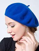 tanie Modne czapki i kapelusze-Damskie Zabytkowe / Do biura Beret - Wełna, Jendolity kolor