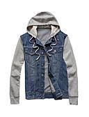 cheap Men's Jackets & Coats-Men's Jacket - Solid Colored, Patchwork / Long Sleeve