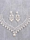olcso Menyasszonyi ruhák-Női Gyöngyutánzat / Strassz Ékszer szett - tartalmaz Ezüst Kompatibilitás Esküvő