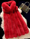 baratos Trench Coats e Casacos Femininos-Mulheres Tamanhos Grandes Colete Trabalho Vintage-Sólido